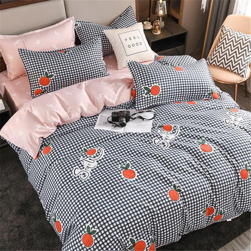 الشمال منقوشة واحدة مزدوجة حاف مجموعة غطاء أغطية سرير نمط البرتقال التوأم الملكة غطاء لحاف