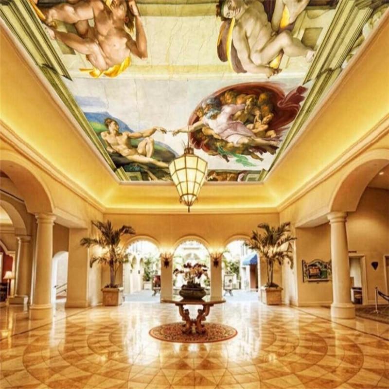 Papel pintado personalizado wellyu 3d, 3d, 3d, mariposas, Fresco, estilo europeo, pintura al óleo renacentista, Genesis Zenith, fondo decorativo, papel tapiz 3d