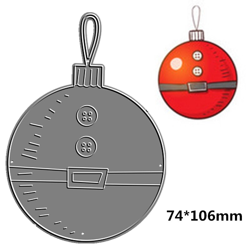 2021 Festival  Cutting Dies Scrapbooking Christmas Ball Make Santa Claus Gift Decoration Embossing Frame Card Craft No Stamp