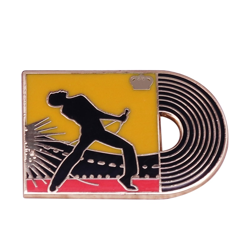 Freddie Mercury Musician Brooch Queen Band Star Badge Rock and Roll Hall of Fame Enamel Pin
