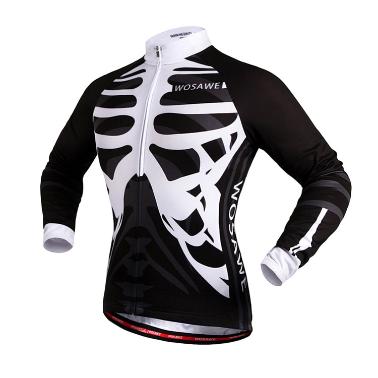 WOSAWE Quick Dry Breathable Motorcycle Jersey Long Sleeve Men's Shirt Bicycle Wear Racing Tops Autumn Winter Cycling Clothing enlarge