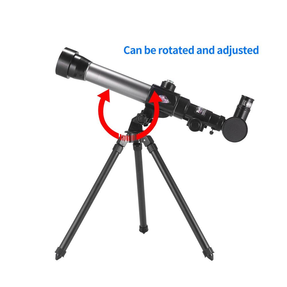 Фото 20 40x Зрительная труба телескоп с непрерывным масштабированием для детей игрушки