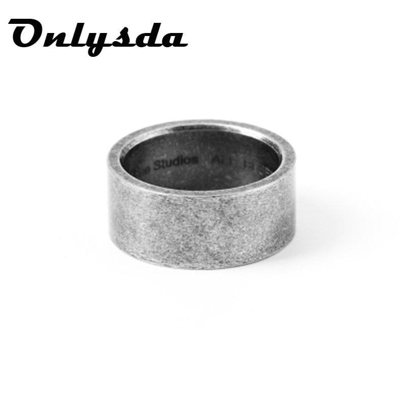 Onlysda 2019 titanio acero vikingo Punk gótico antiguo Simple masculino anillo de oro estilo antiguo para hombres Rock Roll Bikers joyería OSR158