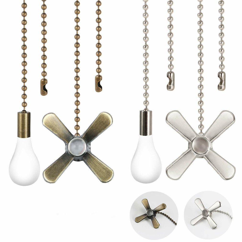 New 4pcs Home Improvement Universal Wall Light Pull Switch Home Ceiling Fan Lamp Replacement Tools Pull Chain Cord Switch