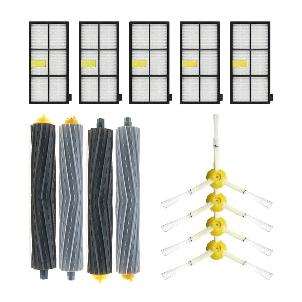New Debris Extractor brush,HEPA Filter,Side Brush Kit For iRobot Roomba 800 870 880 980 vacuum cleaner Accessories parts