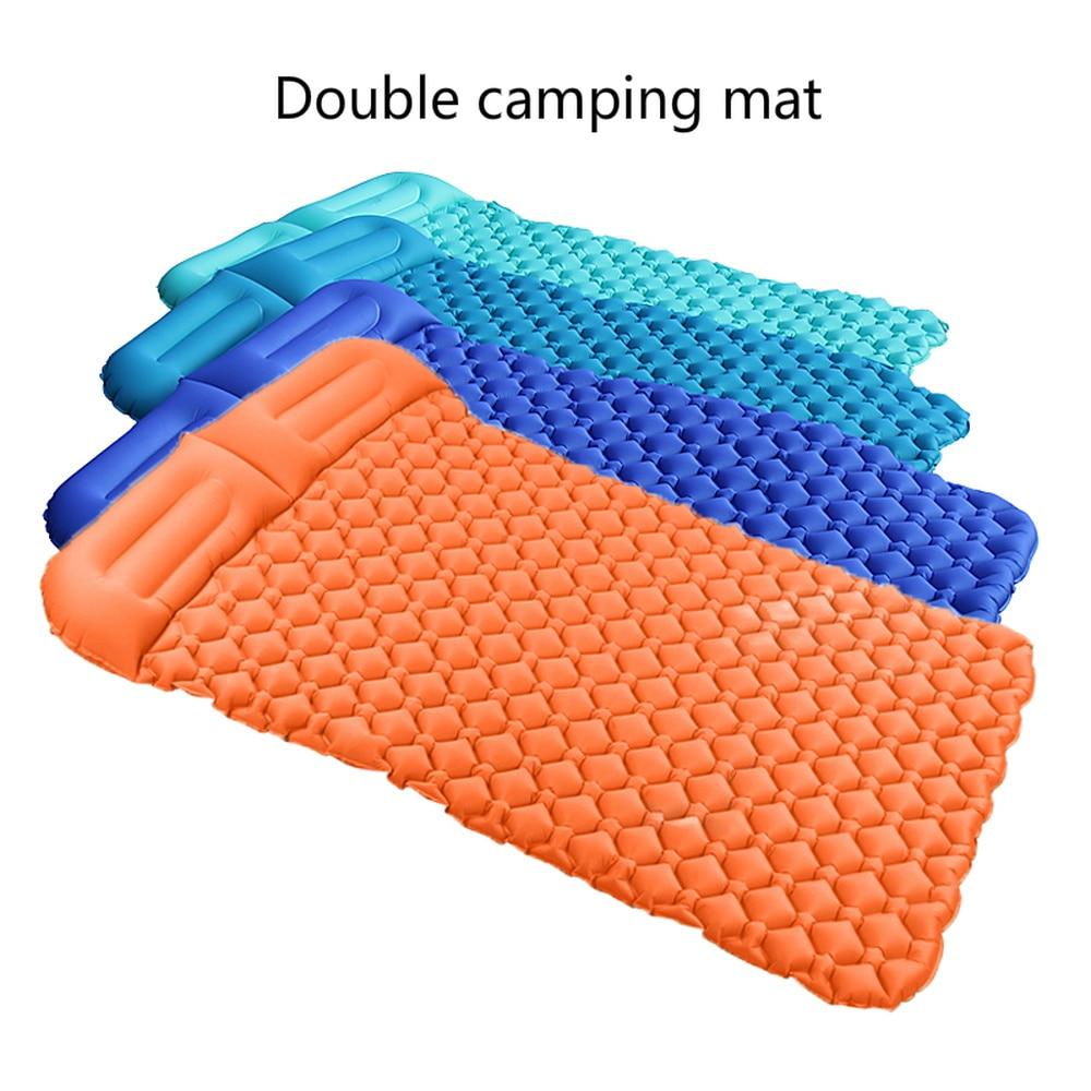Colchón de Camping/colchones autoinflables/colchón inflable/alfombra para campamento al aire libre 2 personas almohadilla para dormir estera de viaje