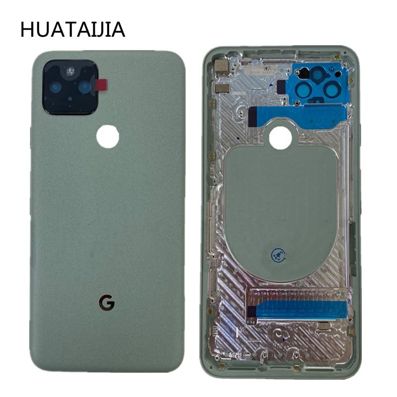New 6.0 inch For Google Pixel 5 Original Back CASE google pixel 5 door Rear Housing GD1YQ GTT9Q battery case