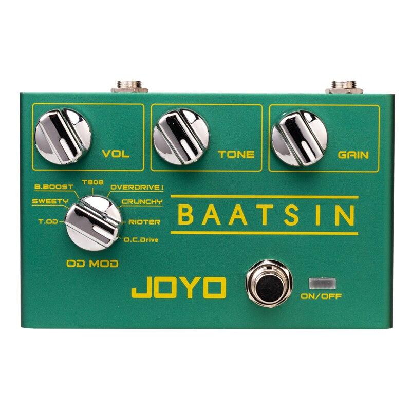 JOYO R-11 BAATSIN الكلاسيكية دواسة Overdrive 8 مختلفة OD/DS تأثير تشويه دواسة لقطع غيار الغيتار الكهربائي تأثير الغيتار