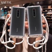 Cases For Xiaomi Mi 9T 9 8 se A3 A2 Lite CC9 Redmi 7 7A Note7 6 5 k20 Pro Strap Cord Chain Lanyard Necklace Shoulder Strap Cover
