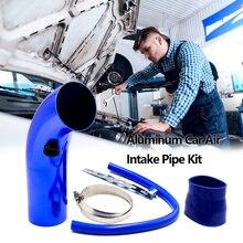76mm en aluminium voiture tuyau dadmission dair Kit tuyaux système dadmission dair froid conduit Tube Kit filtre à Air universel économiser du carburant