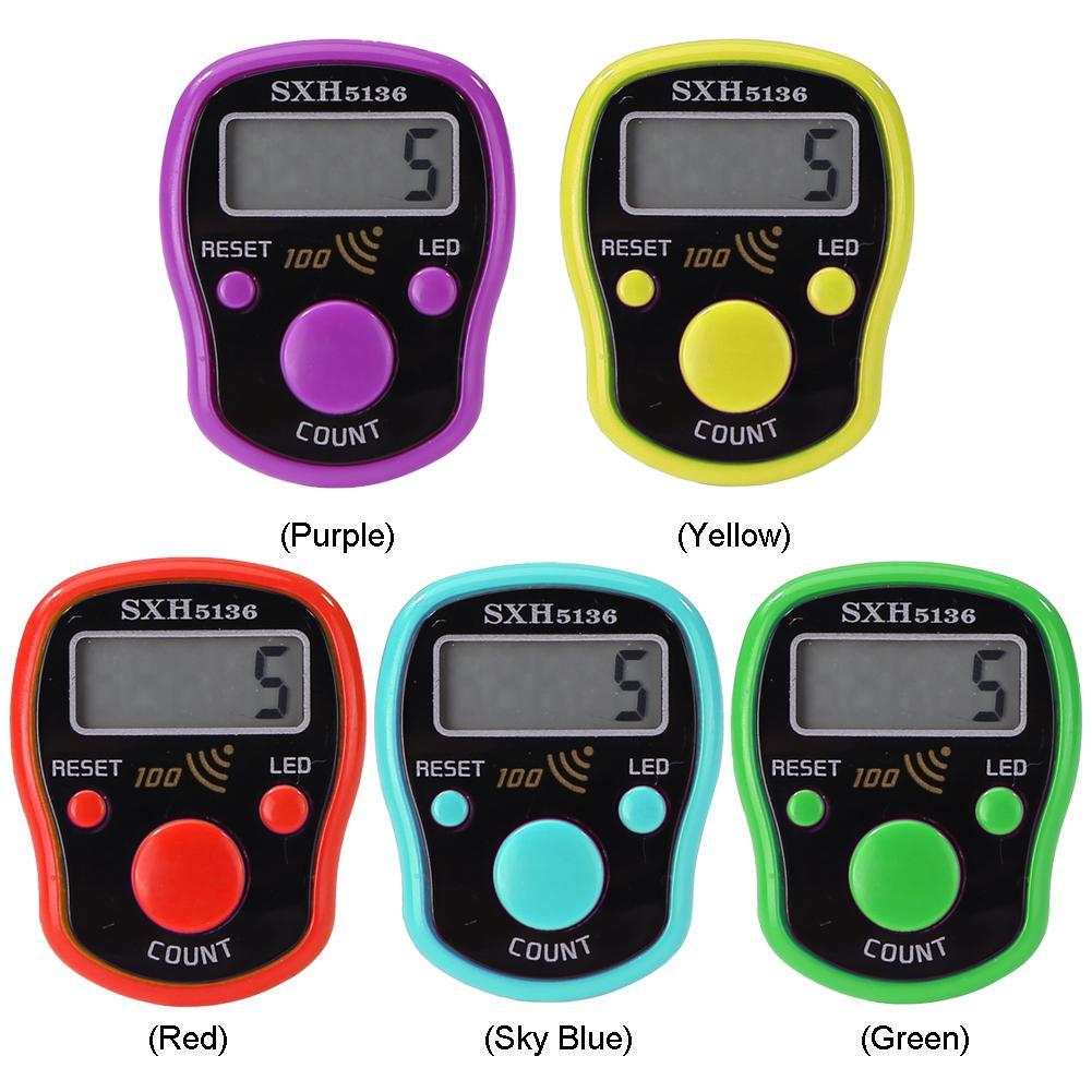 Mini 0-99999 pantalla LCD, contador de dedo, luz de noche, pantalla LED luminosa, contador electrónico