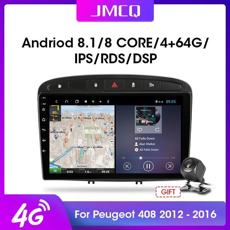 """JMCQ 9 """"4G + WiFi DSP 2din Android 9,0 coche Radio reproductor Multimedia de vídeo navegación GPS para Peugeot 408 308 2012-2016 Unidad Principal"""