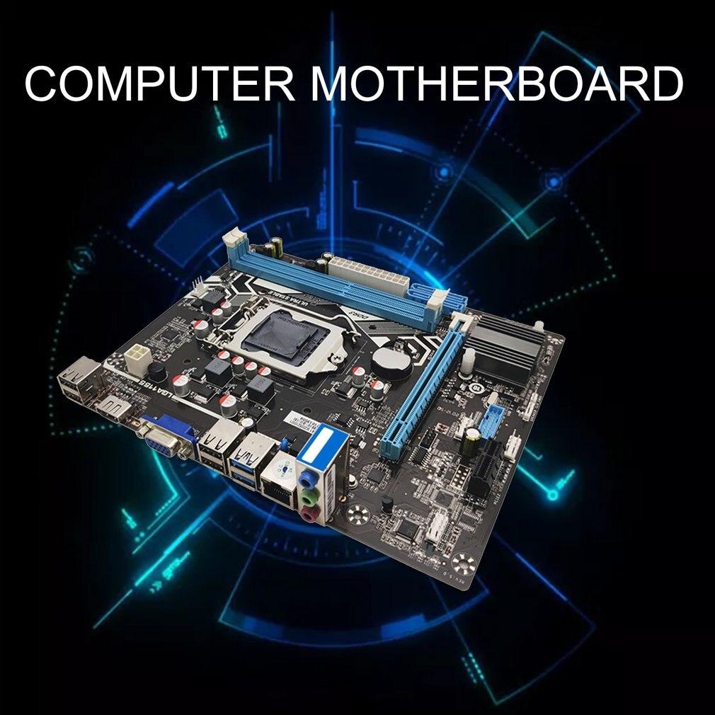 H61 LGA 1155 الحالة الصلبة اللوحة VGA + HDMI-متوافق الانتاج المزدوج الكمبيوتر اللوحة دعم DDR3 الذاكرة 4 USB2.0