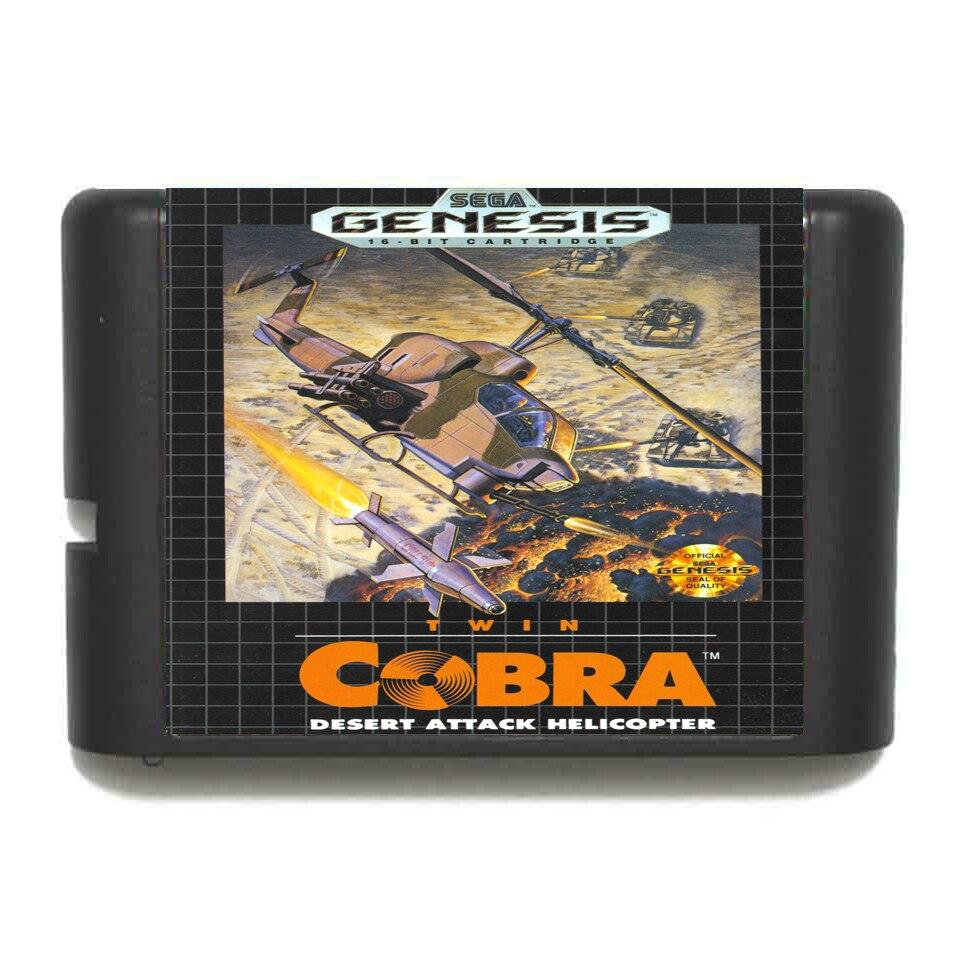 Doble Cobra 16 bit tarjeta de juego MD para Sega Mega Drive...
