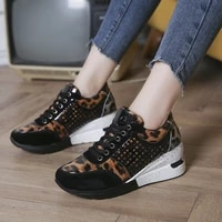2020 autumn winter women sneaker casual wedge ladies flat shoes lace up comfortable female vulcanized shoes outdoor single shoe