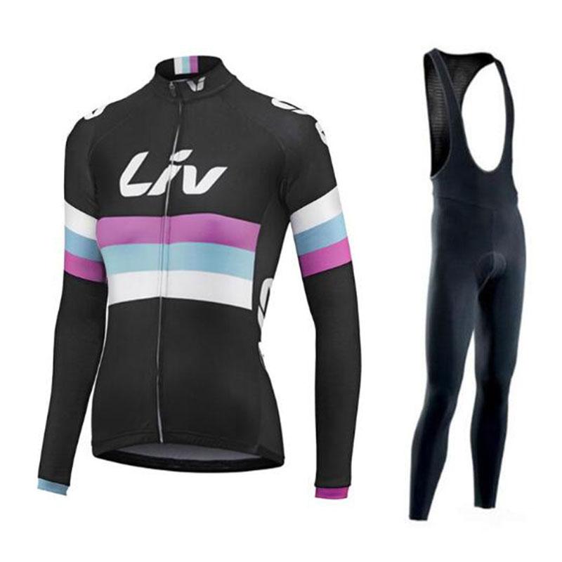 Liv ciclismo jersey 2020 pro equipo bicicleta Invierno Polar térmico conjunto de manga larga ropa ciclismo bicicleta triatlón ciclismo