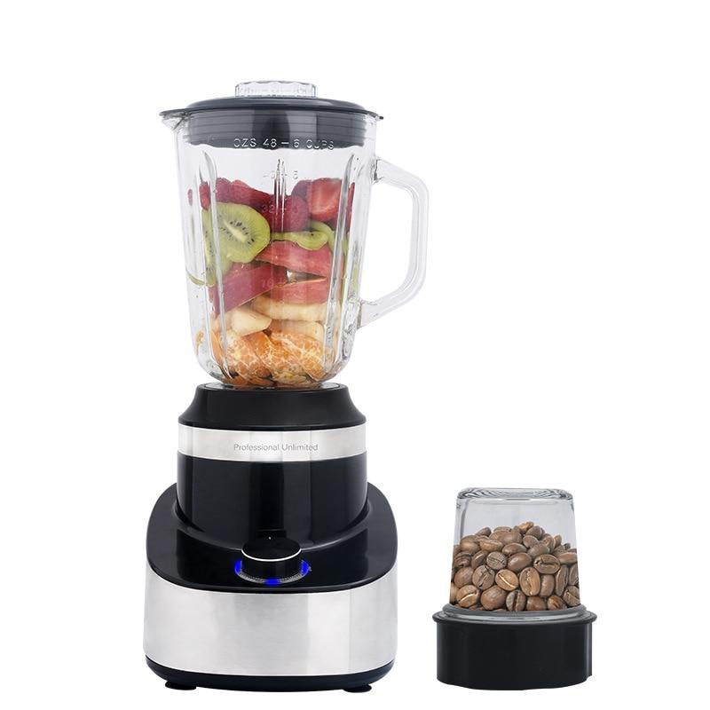 600W 1.5 Liter Juice Blender Mixer Grinder  Food Fruit Commercial Smoothie High Speed Blender Professional Nutrition Blender