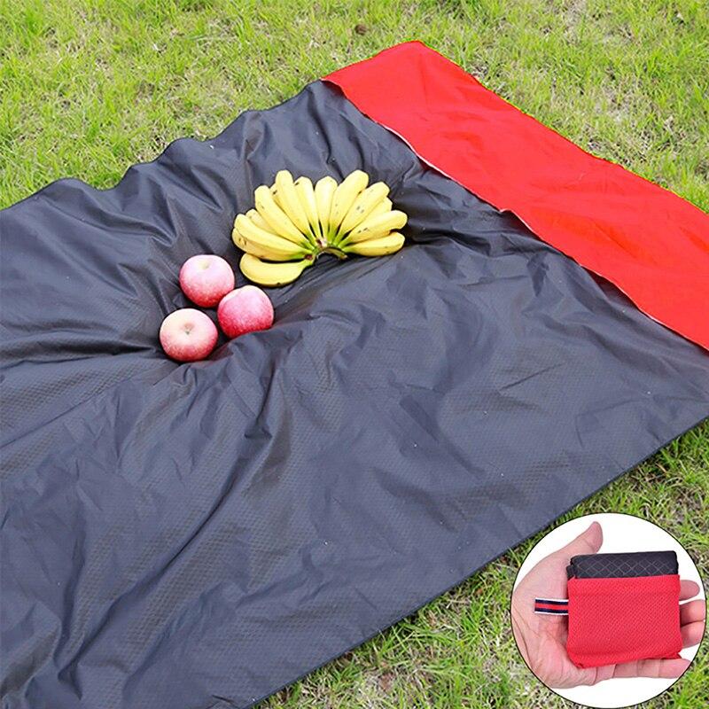 Tapis de Camping pliable en plein air pique-nique randonnée couverture de bébé poche Portable en Nylon tapis de Camping léger imperméable à leau