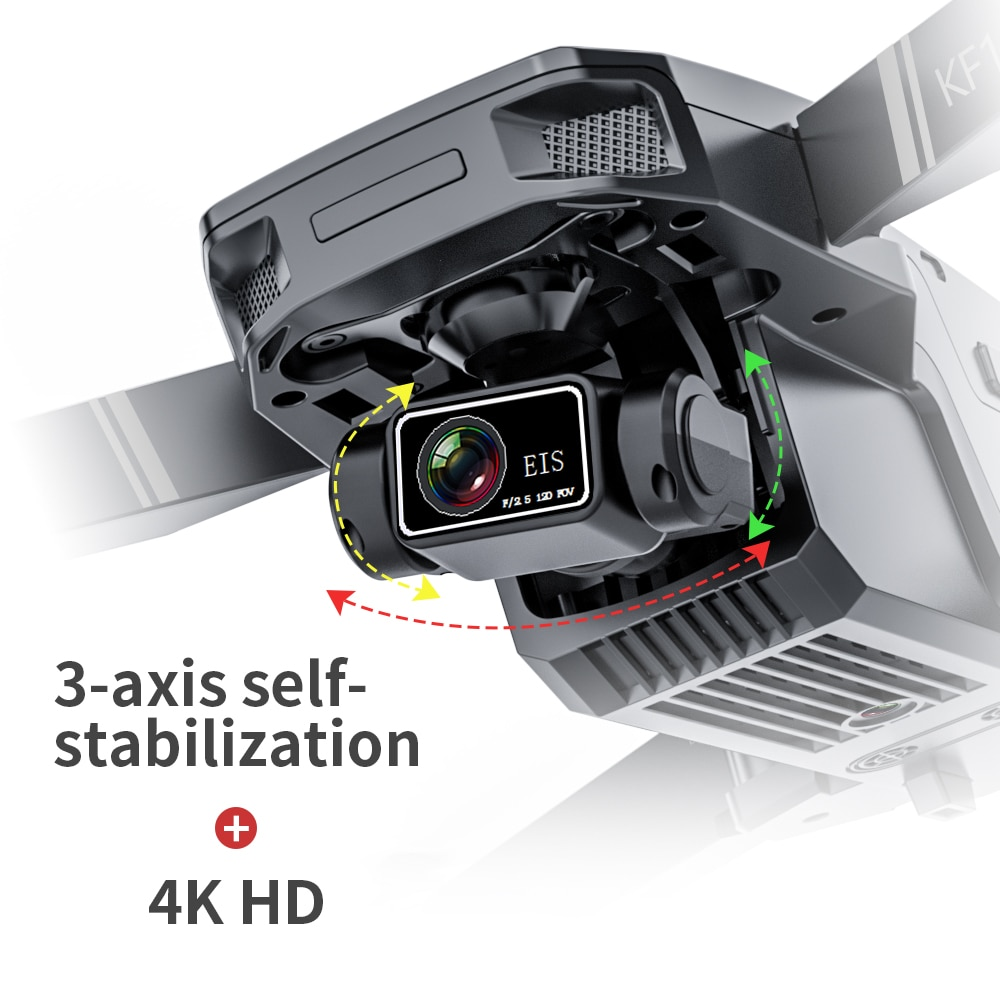 2021 NEW KF101 Drone GPS 4K HD Profesional Camera 3-Axis Gimbal Drones 5G Wifi EIS Anti-Shake FPV Drone RC Quadcopter Toys 1200M 6