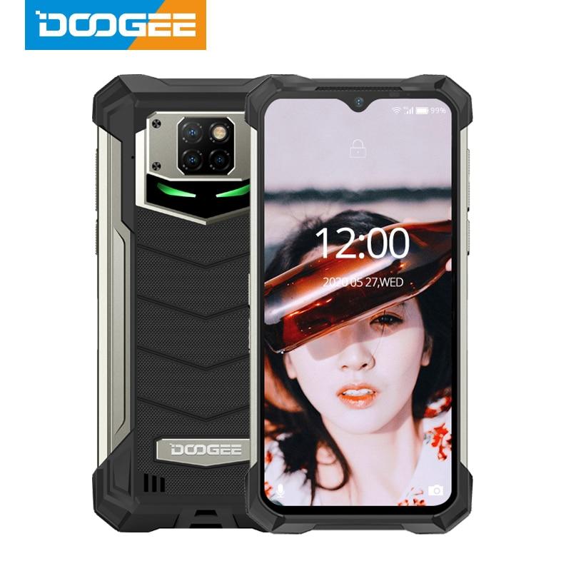 Купить Прочный телефон DOOGEE IP68/IP69K S88 Pro, ОС Android 10, 10000 мАч, большая батарея, быстрая смена, Helio P70 восемь ядер, 6 ГБ ОЗУ 128 Гб ПЗУ