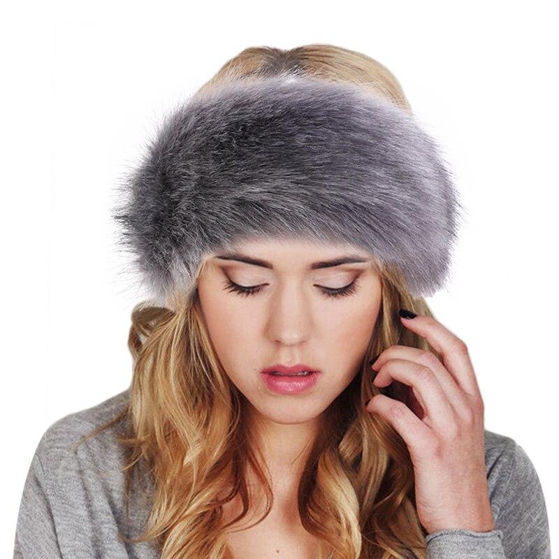 New Russian FOX  Faux Fake Fur Hat Headband Winter Ear Warmer Earmuff Ski Cold Weather Caps
