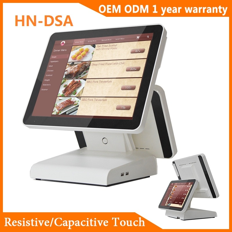 Haina Touch HN-DSA 15.6 Inch Touch Screen POS System Dual Screen POS Thermal