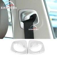 for bmw 5 series g30 17 19 2pcs chrome abs seat safty belt pillar cover trim