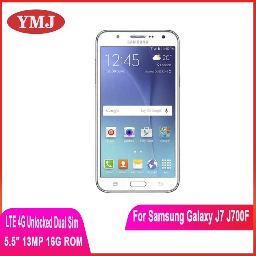Samsung-teléfono inteligente Galaxy J7 SM-J700F, teléfono móvil desbloqueado con doble SIM, 16GB...