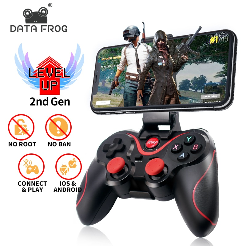 data frog 2 4g wireless game controller gamepad for ps3 xbox 360 android mini i8 keyboard optical mouse for android tv box pc Data Frog Wireless Bluetooth Gamepad Support Official App Game Controller For iphone Android Smart Phone For PS3 PC TV Box