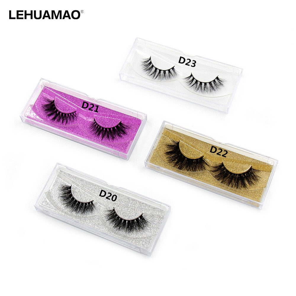 LEHUAMAO Mink Lashes 3D Mink False Eyelashes Long Lasting Lashes Natural Lightweight Mink Eyelashes Fluffy Dramatic Eye Makeup недорого