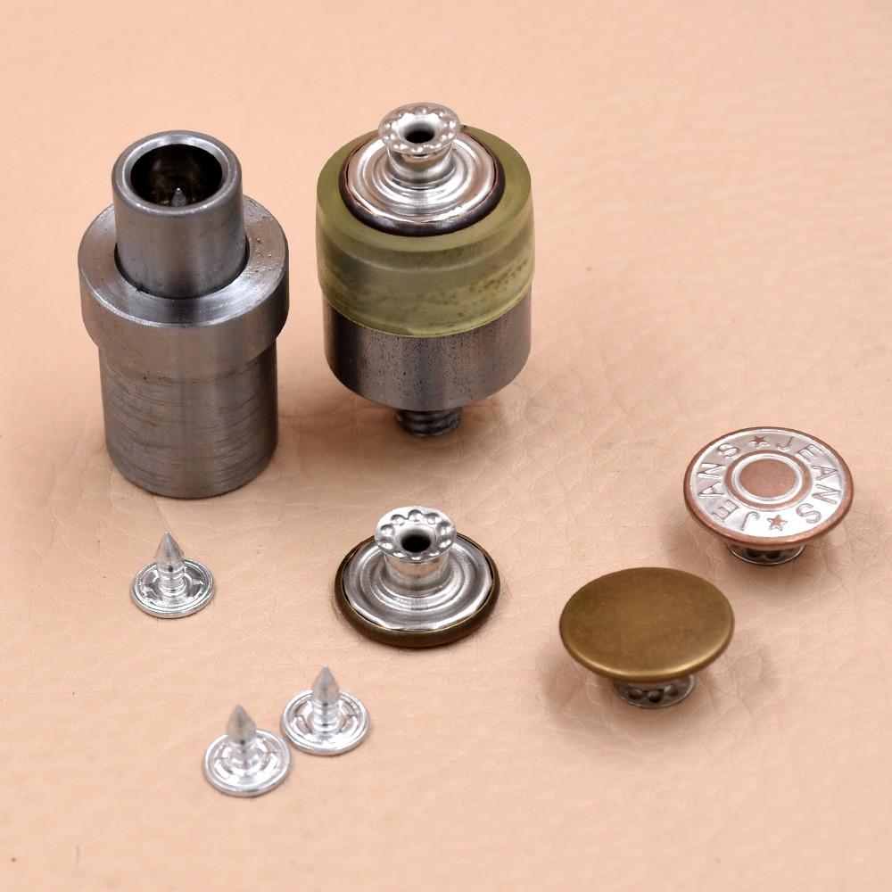 Molde de presión manual, botones de hebilla con cabeza móvil, troqueles de molde, botón de metal con molde para vaqueros planos, herramienta con ojal de metal. Botón para Vaqueros