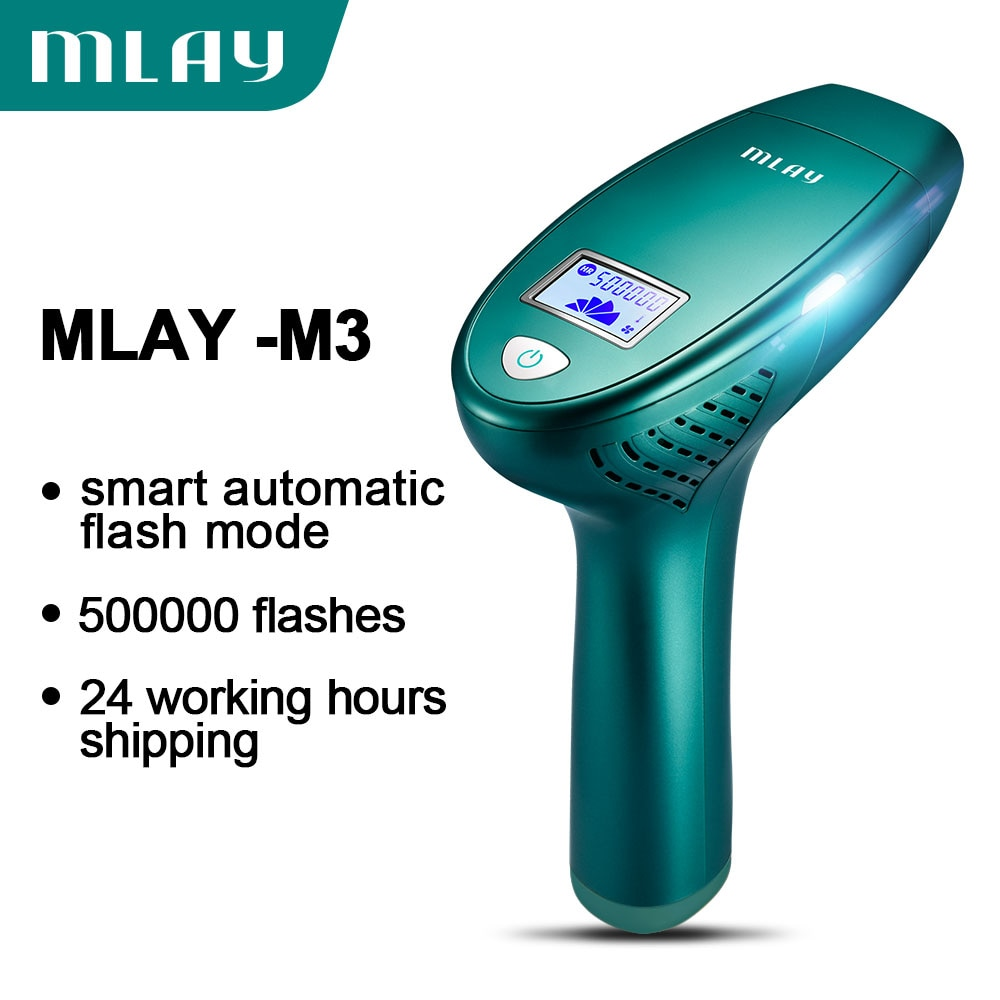 MLAY Portable home use skin rejuvenation ipl laser hair removal machine with one hair removal lamp 500000 shot for Free Shipping enlarge