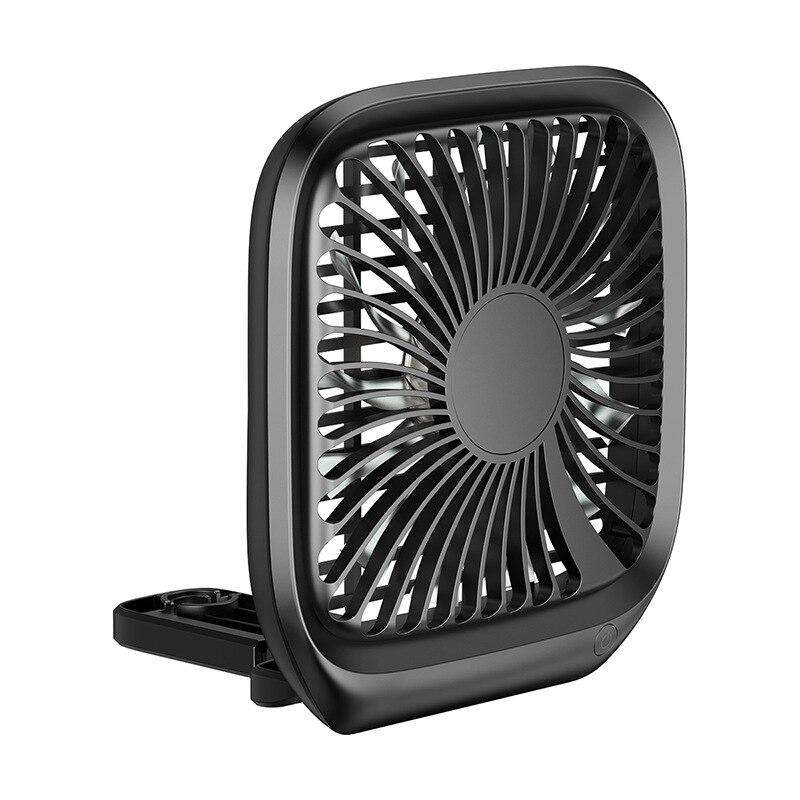 Reposacabezas de coche asiento trasero ventilador de ventilación ventilador USB cargador Simple instalar luz plegable ventilador plegable Blanco/negro