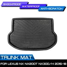Tapis de sol, coffre arrière, accessoires de voiture, pour Lexus NX NX200T NX300H NX300 2015-2018
