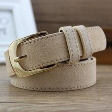 Woman jeans belt black leather belts for women waist ceinture femme gold buckle pig skin cintos desi