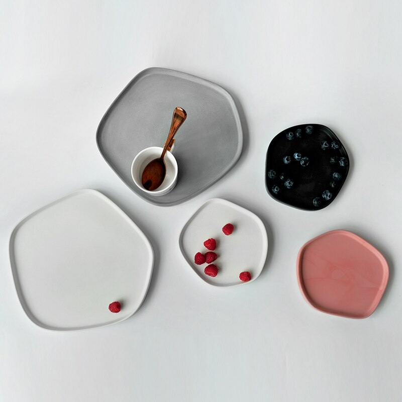 Cement Tray Siliconen Mal Aromatherapie Gips Fitting Opbergvak Beton Handwerk Onregelmatige Combinatie Plaat Silicon Mold
