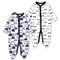 2 pack romper for newborn boys long sleeved cotton cute dinosaur pajama set infant jumpsuit outfit baby boys clothes