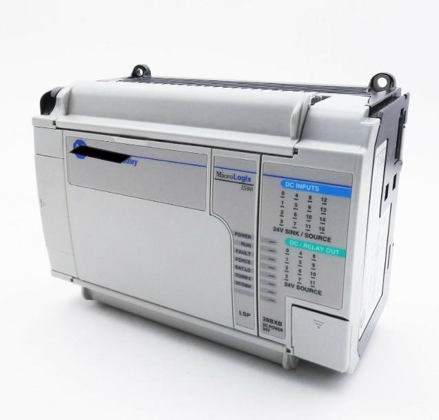 PLC MicroLogix 1500 1764-28BXB, الوحدة الأساسية 12 مدخلات 12 مخرجات مستعملة