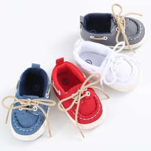 0-18M Baby Shoes Newborn Boy Girl Soft Soles Crib Soft Sole Shoe Sneakers Denim First Walkers