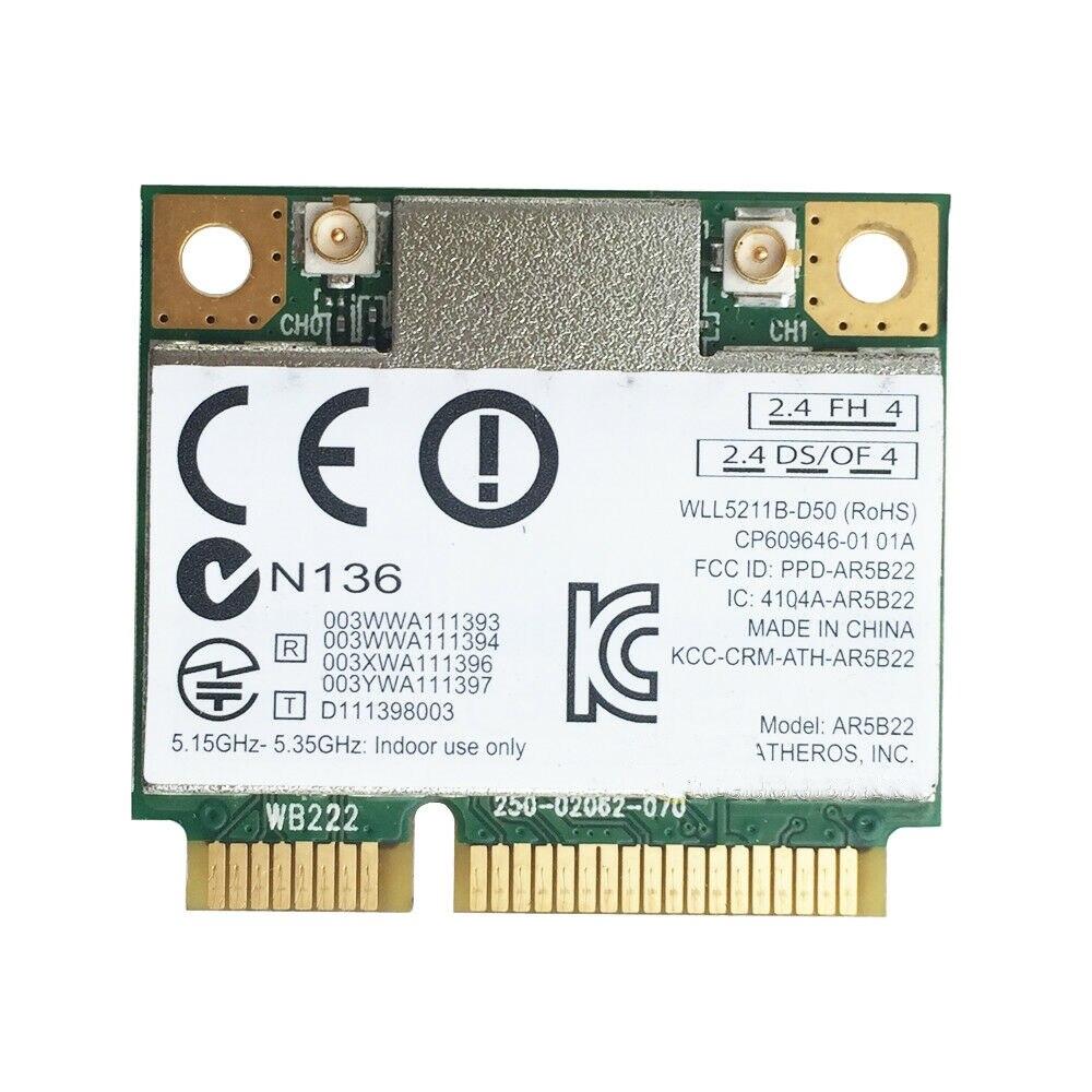 Drahtlose WIFI Karte Für Atheros AR9462 AR5B22 Mini PCI-E 802,11 N WIFI WLAN KARTE Bluetooth 4,0 2,4 & 5Ghz 100% marke Neue