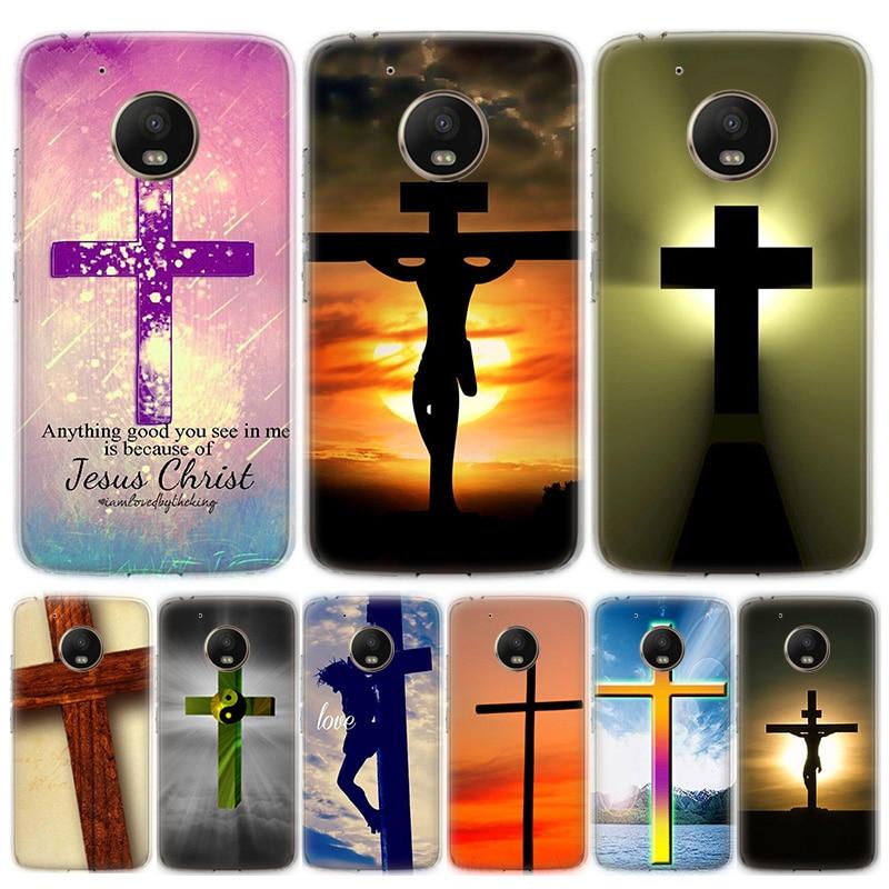 Bible Jesus Christ Christian Cross Phone Case For Motorola MOTO G8 G7 G6 G5 G5S G4 E6 E5 E4 Plus Play Power One Action Soft Sili