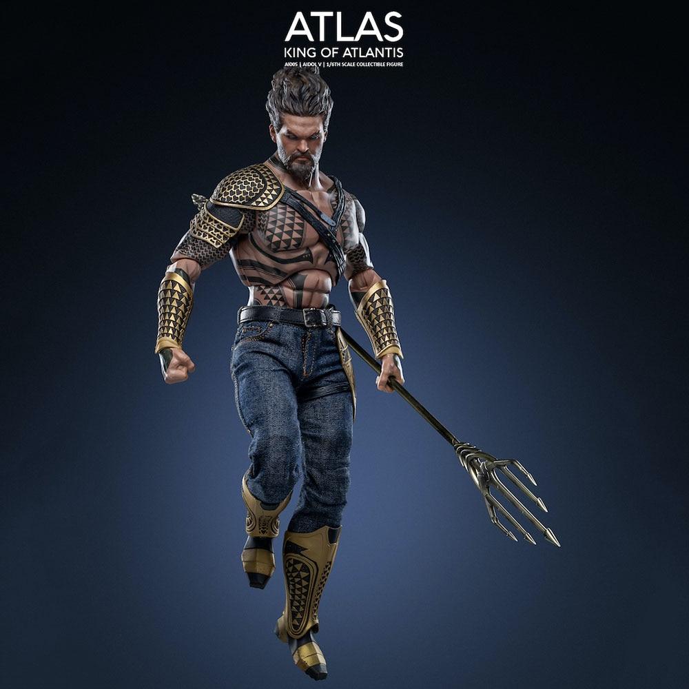 Художественные фигурки AI-005 1/6 масштаб коллекционный сын аквамена король Атлантиса Атлас фигурку модель для фанатов подарки на праздник