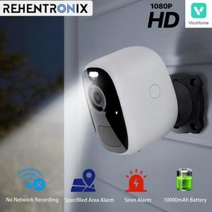 Outdoor Smart Rechargeable Battery Powered WiFi IP Camera 1080P HD Wireless Securtiy Camera Home Siren Alarm Spotlight Camera
