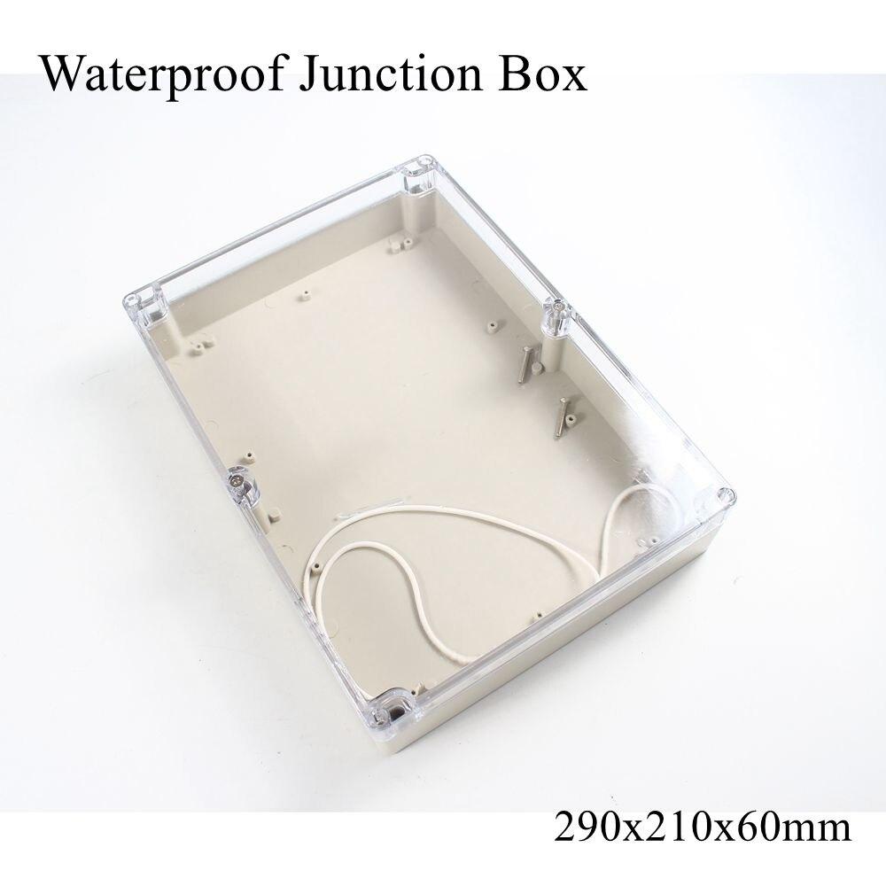 290x210x60 مللي متر مقاوم للماء صندوق توصيلات بلاستيكي شفاف واضح الكهربائية مشروع حافظة ABS IP65 في الهواء الطلق الضميمة 290*210*60 مللي متر