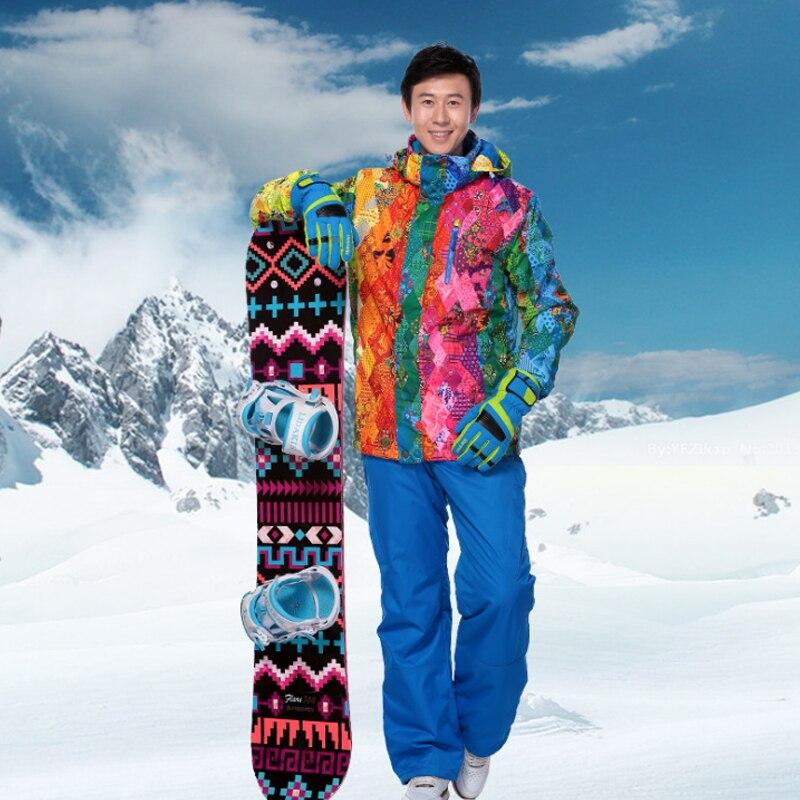 بدلة تزلج للرجال للشتاء ثلاثة في واحد سترة قابلة للفصل للثلج 2020 درجة حرارة سميكة مضادة للماء من قطعتين جاكيت + بنطلون للتزلج