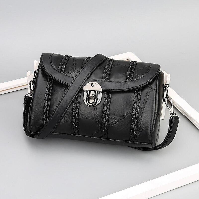 Bolsos de cuero genuino para mujer bolso colgante de diseñador para damas bolso bandolera bolsos de embrague
