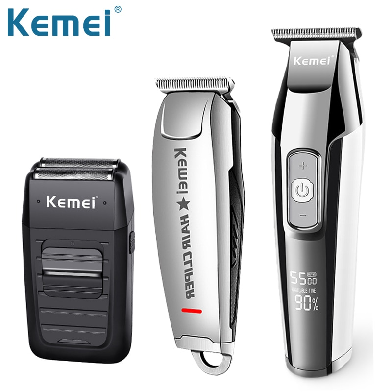 kemei rechargeable electric shaver facial care men s shaving electric shaver hair trimmer high quality material rscw 5600 Kemei Electric Shaver Men's Beard Trimmer Facial Clipper Hair Finishing Machines Professional Shaving Haircut Rechargeable Mower