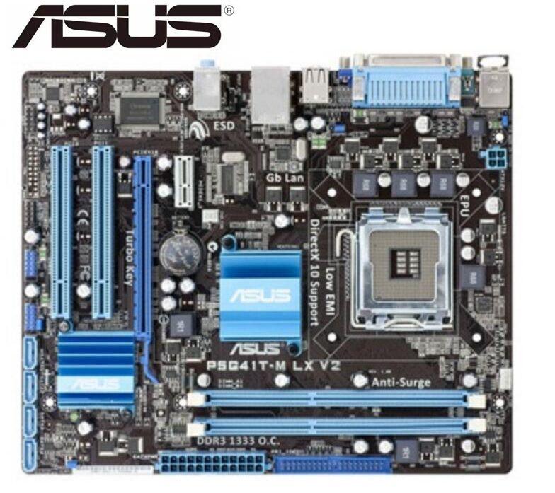 الأصلي اللوحة ل Asus P5G41T-M LX V2 LGA 775 DDR3 8 جيجابايت USB2.0 VGA G41 المستعملة سطح المكتب اللوحة