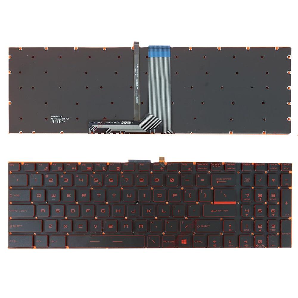 ل MSI Steelseries GP72 GP62 GT72 GS60 GS70 GE62 GL62 GE72 GE62 GS72 GT72 2QD لنا محمول استبدال لوحة المفاتيح مع الخلفية