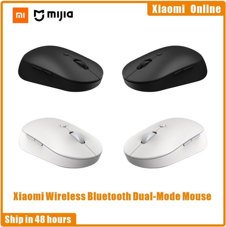Xiaomi Mi Wireless Bluetooth Dual-Mode Mouse Silent Ergonomic Bluetooth USB Side Buttons Protable Mi